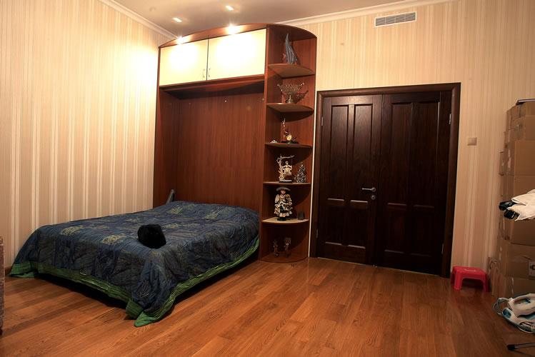 Мебель Шкаф-Диван-Кровать-Трансформер в встроенная. шкаф встроенная Шкаф-Диван-Кровать-Трансформер откидная Мебель в